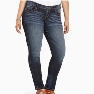 Torrid Luxe Dark Wash Skinny Jeans 20 SHORT